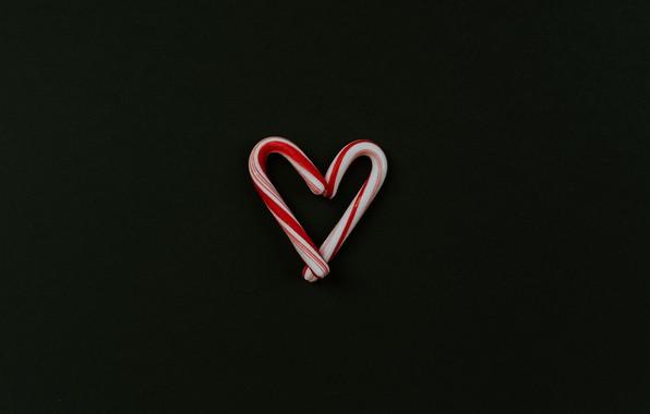 Картинка любовь, фон, сердце, минимализм, леденцы