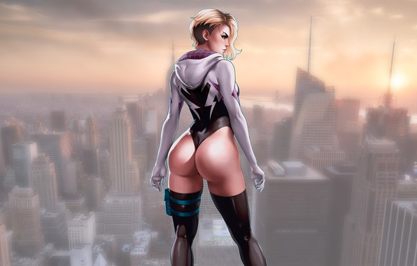 Картинка Girls, Marvel, Comics, Gwen Stacy, Comic, Spider Gwen, superheroines