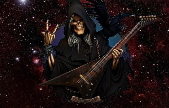 Картинка Гитара, Смерть, Рок