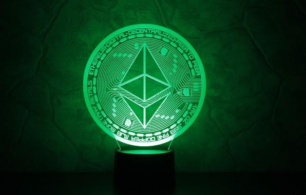 Картинка green, эфир, cryptocurrency, eth, ethereum