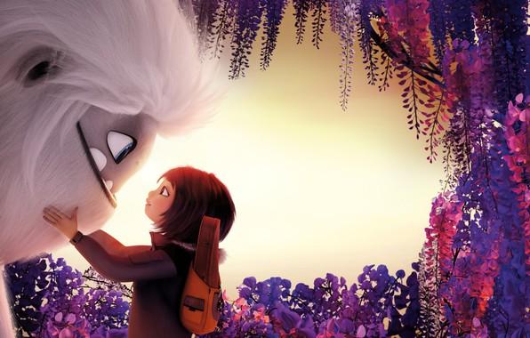 Картинка цветы, девочка, монстрик, Эверест, Abominable