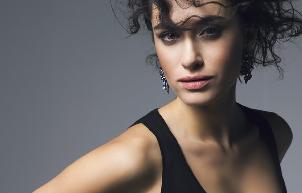 Картинка взгляд, девушка, лицо, серьги, Hande Dogandemir