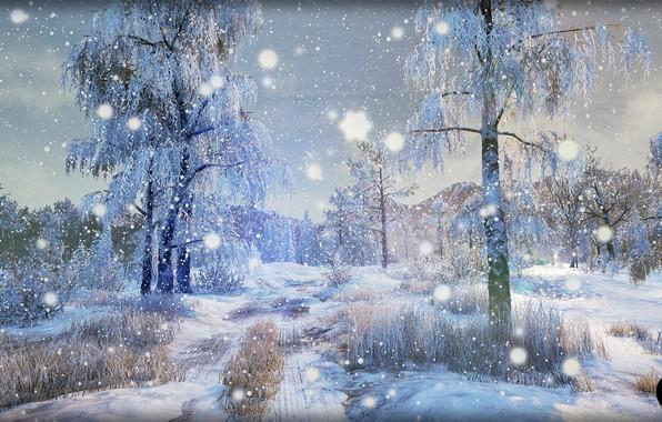 Картинка зима, природа, арт, Winter Nature [UE4], SilverTM .