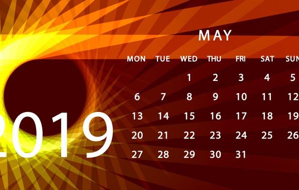 Картинка май, календарь, 2019