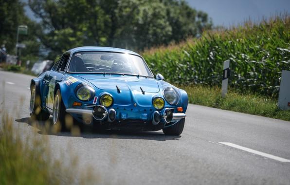 Картинка Classic, 1970, Rally, Ралли, Classic car, Alpine, A110, Alpine A110, Alpine A110 1600S, Rally Icon