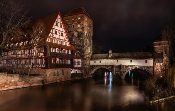 Картинка ночь, город, архитектура