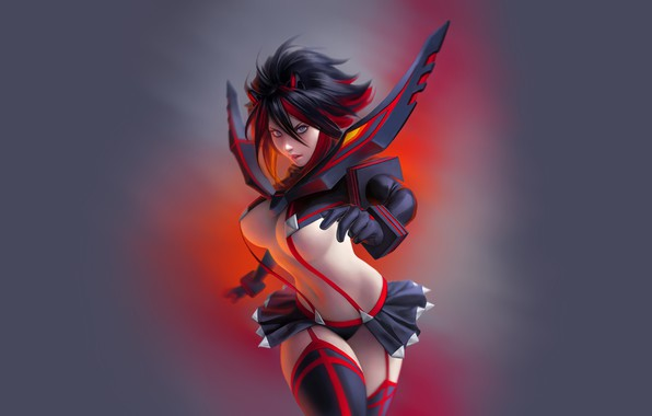 Картинка Kill La Kill, anime girl, matoi ryuko