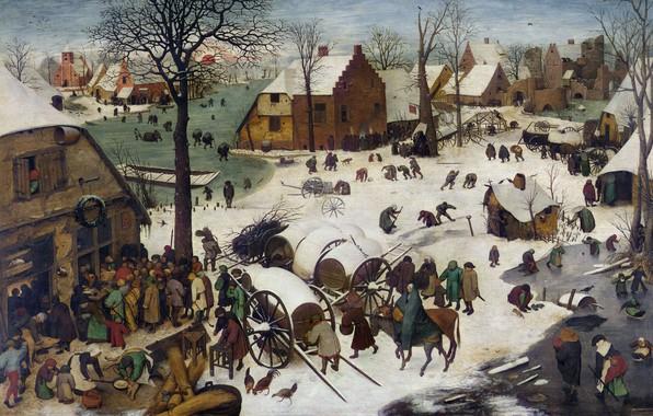 Картинка Бельгия, Питер Брейгель Старший, Dutch painter, Pieter Bruegel the Elder, нидерландский живописец и график, 1566, …