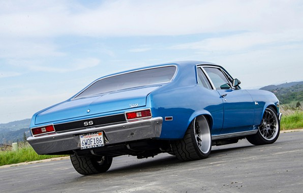 Картинка Chevrolet, Blue, Nova, Muscle car, Pro Touring