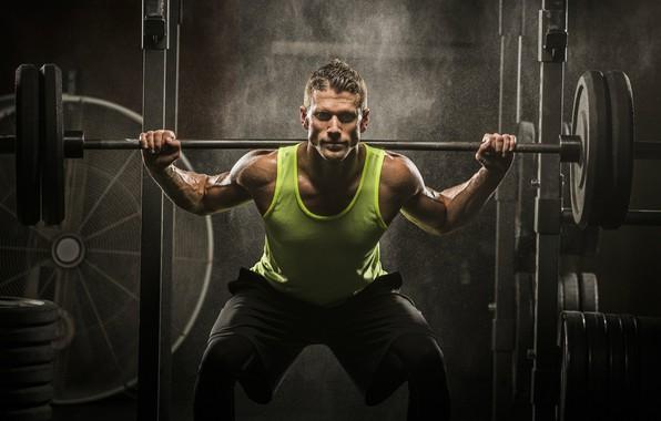 Картинка мышцы, штанга, pose, тренировка, атлет, workout, тренажерный зал, fitness, gym, бодибилдер, crossfit, bodybuilder