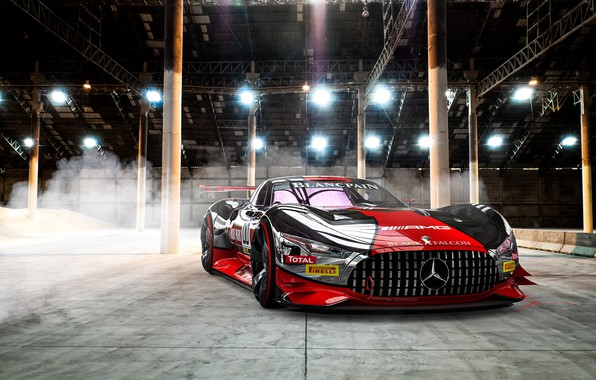 Картинка Mercedes-Benz, Авто, Машина, Mercedes Benz, AMG, Рендеринг, Concept Art, Передок, Спорткар, Gran Turismo, Transport & ...