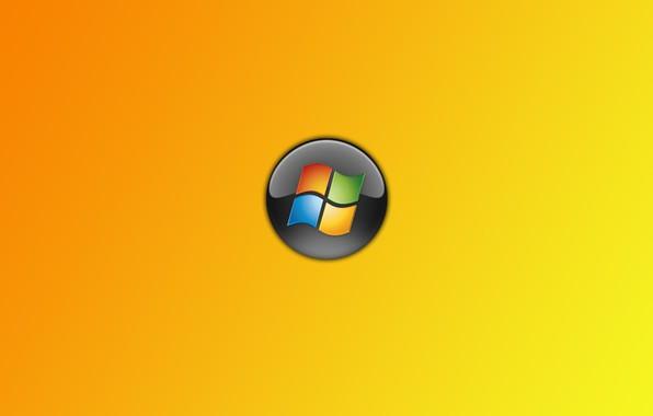 Картинка windows, logo, orange
