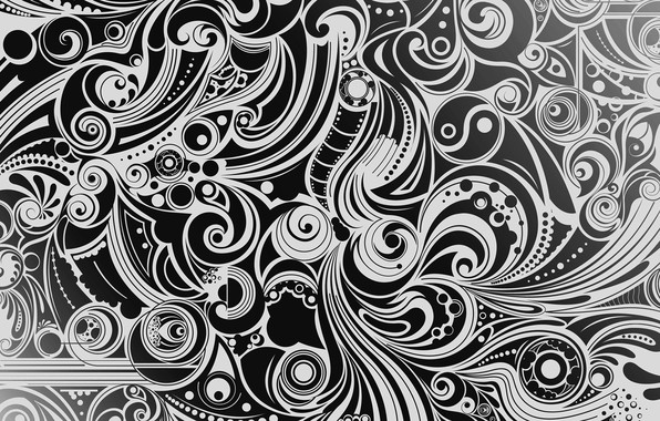 Картинка белый, фон, узор, черный, рисунок, вектор, текстура, форма