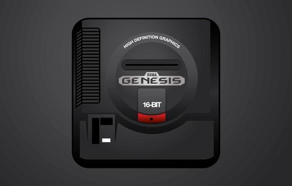 Картинка sega, 16 bit, genesis, game console, игровая приставка, 16-bit, Сега