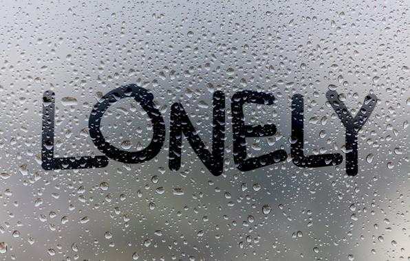 Картинка стекло, вода, капли, дождь, окно, rain, window, drops, lonely