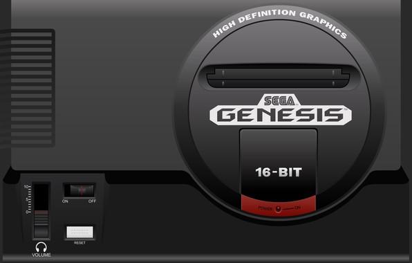 Картинка sega, 16 bit, сега, genesis, game console, игровая приставка, 16-bit