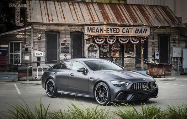 Картинка Mercedes - Benz, 2018, спортивное купе, Мерседес - Бенц, Mercedes-AMG GT 63S 4MATIC+4Door-Coupe, hyacinth red …