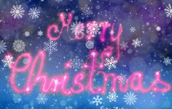 Картинка снежинки, фон, праздник, обои, Рождество, Christmas, звездочки, картинка, боке, сияние огней, Говый Год