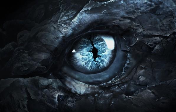 Картинка глаз, страх, дракон, dragon, Игра Престолов, Game of Thrones