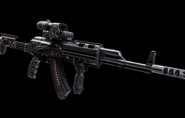 Картинка рендеринг, оружие, тюнинг, автомат, gun, weapon, render, кастом, Калашников, Custom, АКМ, Калаш, AKM, штурмовая винтовка, …