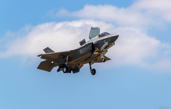 Картинка истребитель, Lightning, F-35B