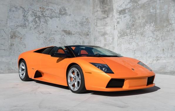Картинка Supercar, Orange Car, Lamborghini Murcielago Roadster, Итальянский Автомобиль