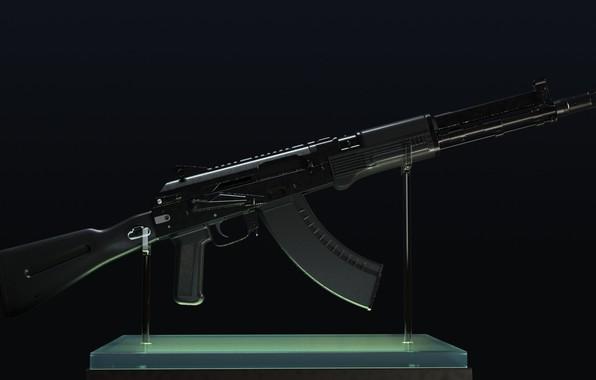 Картинка рендеринг, оружие, gun, weapon, render, Калашников, штурмовая винтовка, assault Rifle, 7.62, Kalashnikov, акм, akm, ак …