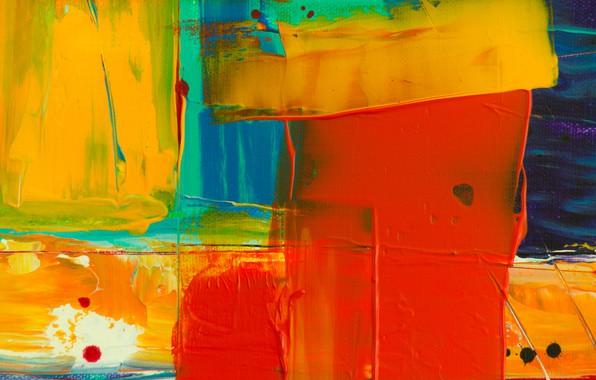 Картинка линии, краска, кляксы, холст, мазки