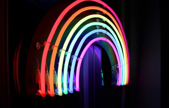 Картинка lights, colorful, rainbow, lines, macro, neon, lamp, bright, gay pride