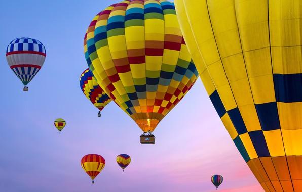 Картинка небо, воздушный шар, sky, balloon, Renee Doyle