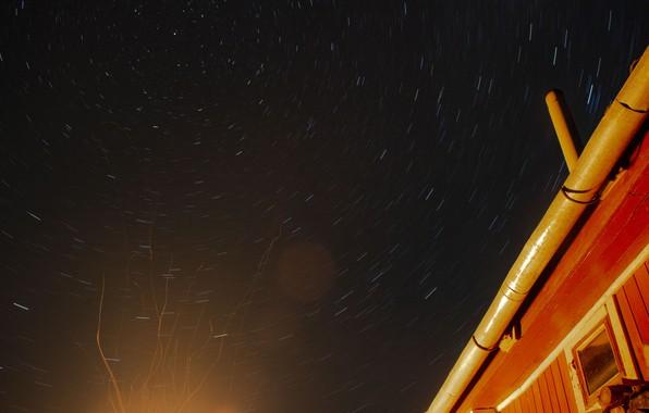 Картинка небо, космос, звезды, тепло, огонь, треки