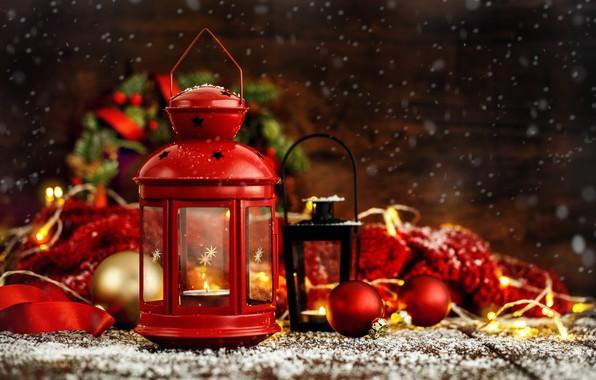 Картинка украшения, шары, Новый Год, Рождество, фонарь, подарки, Christmas, balls, wood, New Year, gift, decoration, xmas, …