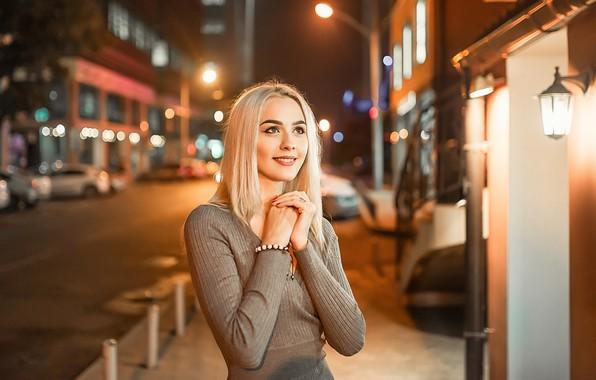 Картинка dress, smile, blonde, Георгий Дьяков