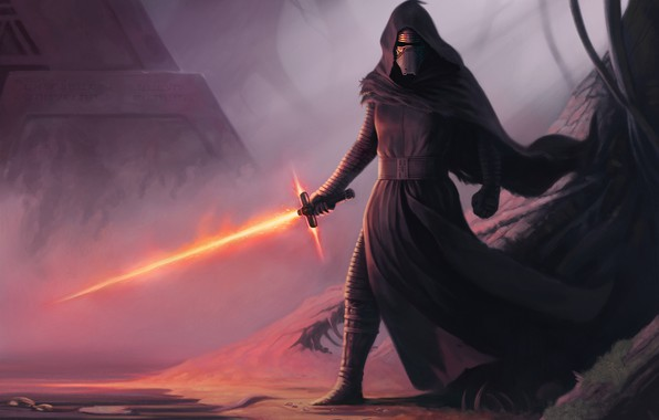 Картинка Star Wars, Меч, Art, Ситх, Kylo Ren, by Dean Spencer, Dean Spencer, Forbidden Knowledge