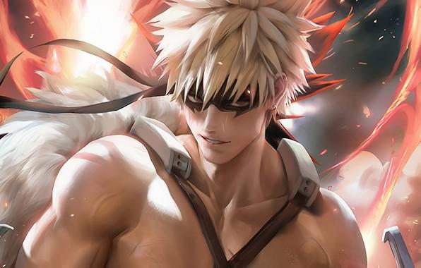 Картинка парень, Boku No Hero Academia, Моя Геройская Академия, Бакуго Катсуки