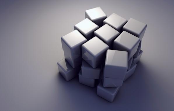 Картинка кубики, куб, объем, грань