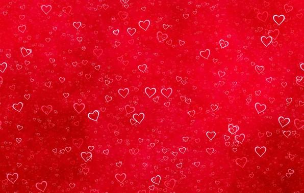 Картинка красный, текстура, сердечки