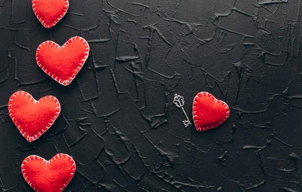 Картинка любовь, сердце, red, love, key, romantic, hearts, valentine's day, gift