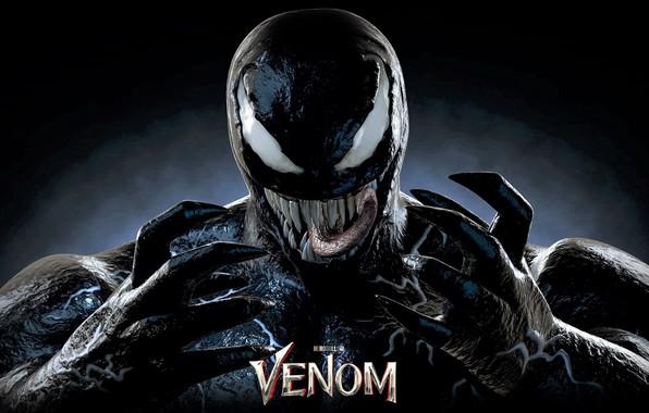 Картинка язык, фон, злость, Веном, Venom