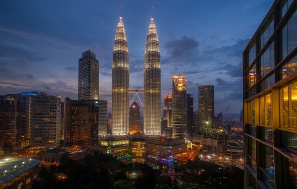 Картинка небо, город, Малайзия, Куала Лумпур