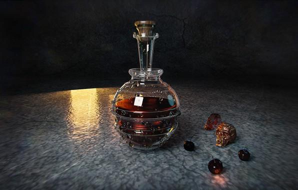 Картинка череп, графин, HP Potion, Taisa Kislova (DarP)