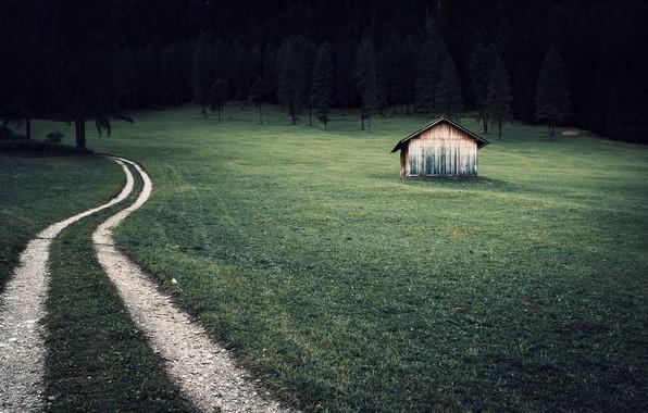 Картинка дорога, природа, дом