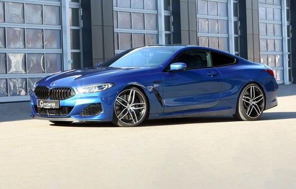 Картинка машина, фары, тюнинг, купе, BMW, диски, G-Power, xDrive, 8-Series, 2019, G15, M850i