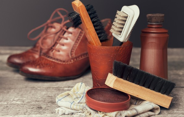 Картинка shoes, quality, elegance, luster, brushes, brought