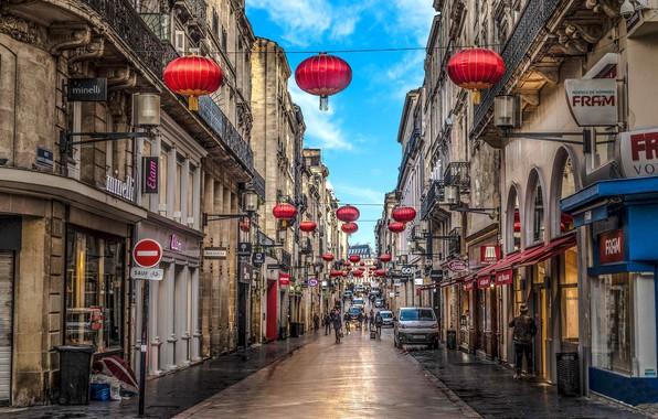 Картинка город, улица, Франция, Бордо