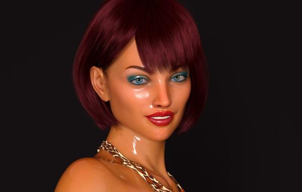 Картинка девушка, портрет, макияж