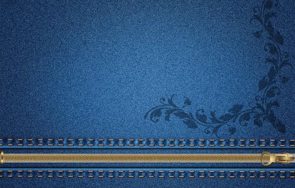 Картинка цветок, фон, молния, текстура, джинс