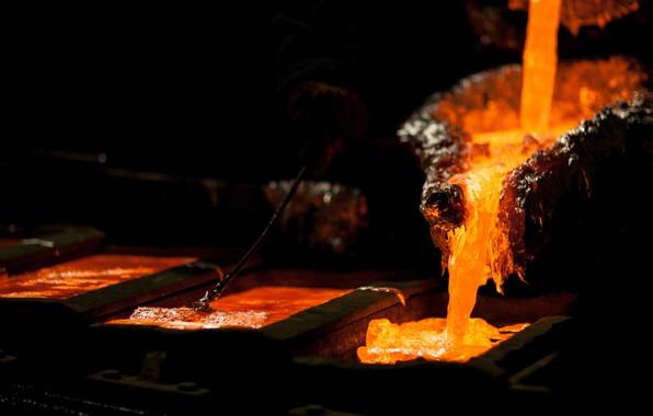 Картинка energy, lava, heat, foundry, liquid metal, mold