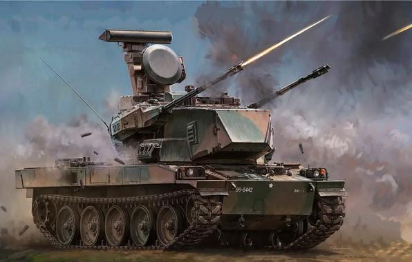 Картинка арт, стрельбы, ПВО, JGSDF, SPAAG, TYPE 87