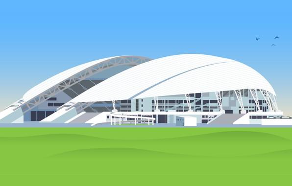 Картинка Футбол, Россия, Олимпийский, Стадион, Сочи, Фишт, Стадион Фишт, Olympic Stadium, Fisht Olympic Stadium, «Стадион Фишт», …
